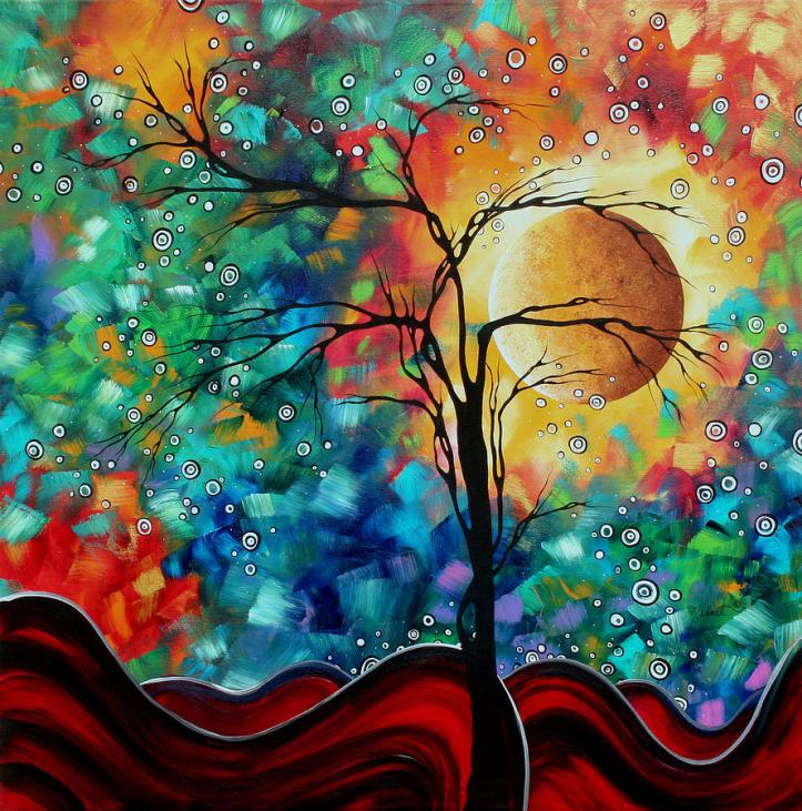 abstract-art-original-whimsical-modern-landscape-painting-bursting-forth-by-madart-megan-duncanson