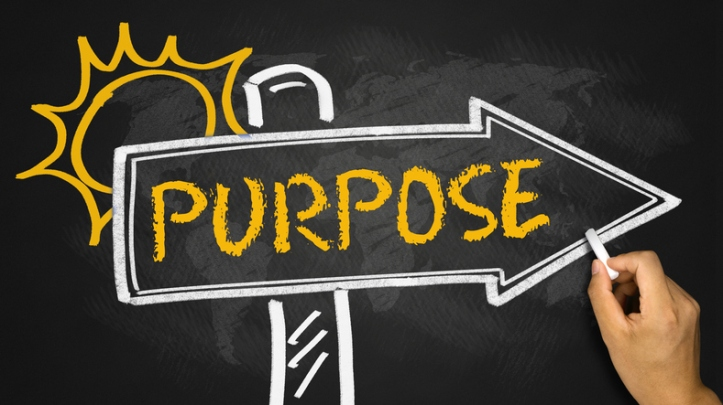 purpose concept on signpost